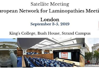 European Network for Laminopathies Meeting (London, Sept 2019)